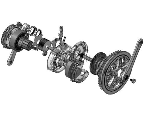 Pièces détachés du moteur pédalier