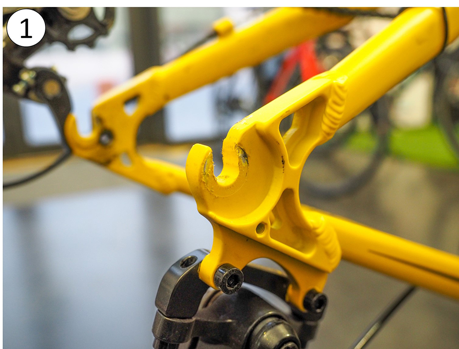 Cadre vélo standard : support roue arrière