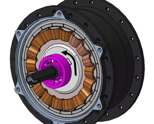 Architecture du moteur réducté : sens de rotation
