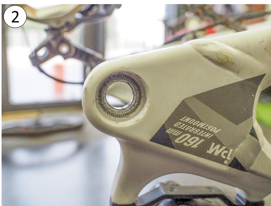 Cadre vélo à axe traversant : support roue arrière