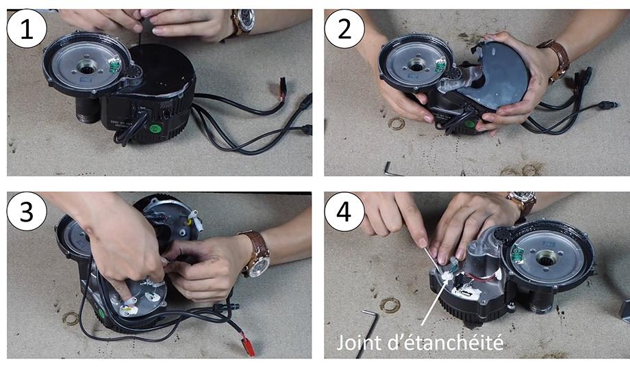 Démontage du contrôleur, moteur pédalier pour vélo électrique