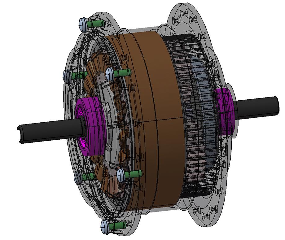 Architecture du moteur réducté : ensemble des pièces