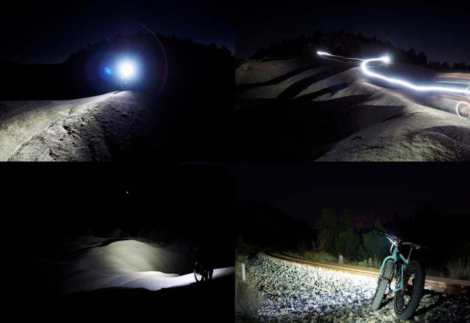 Éclairage VTT OZO : exemples d'utilisations la nuit