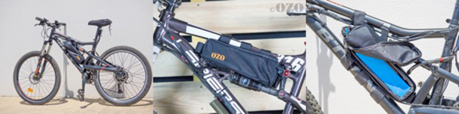 Sacoche de cadre 2.3L pour batterie attachée à un VTT tout suspendu