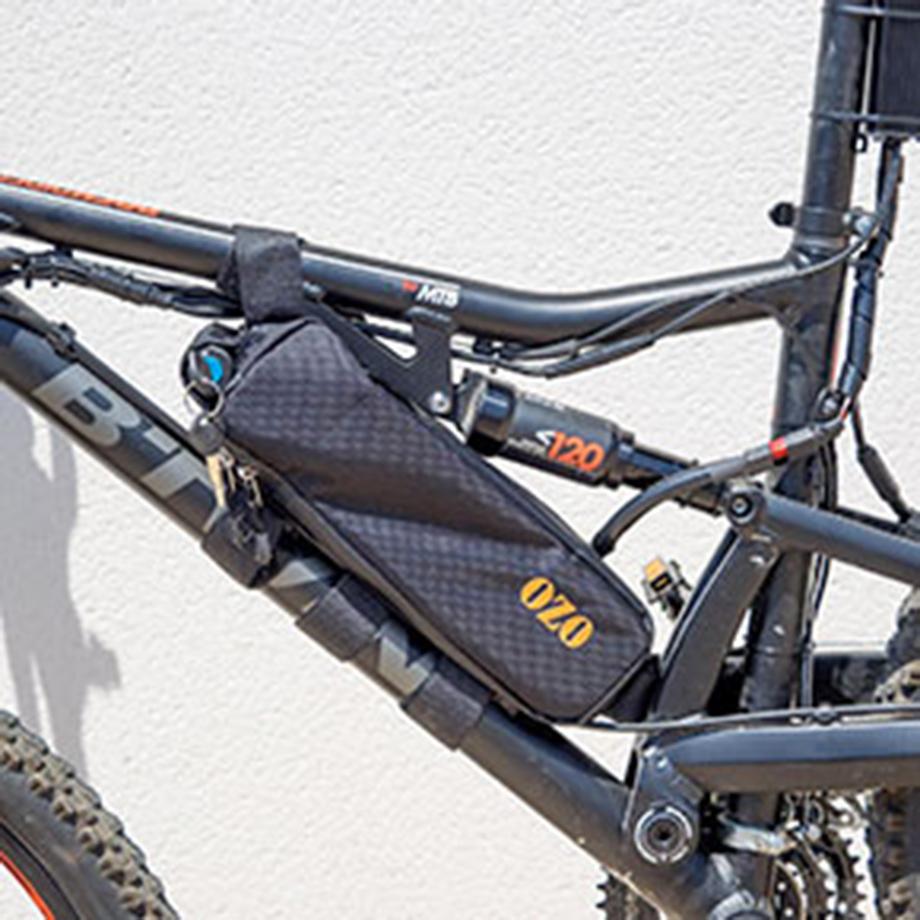 VTT Rockrider 520 S, vue cadre et batterie