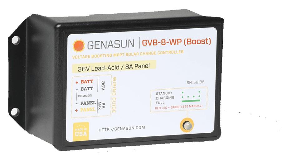 Chargeur GENASUN 36V Waterproof IP68 pour recharger batterie au soleil