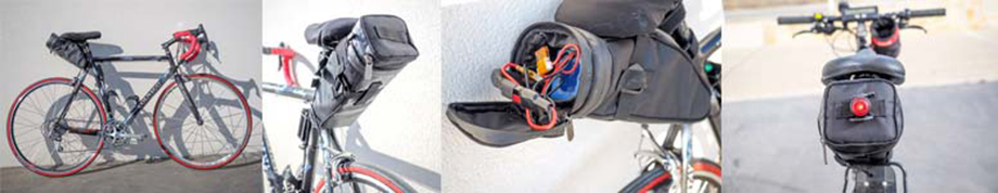 Sacoche de selle pour batterie attachée à un vélo