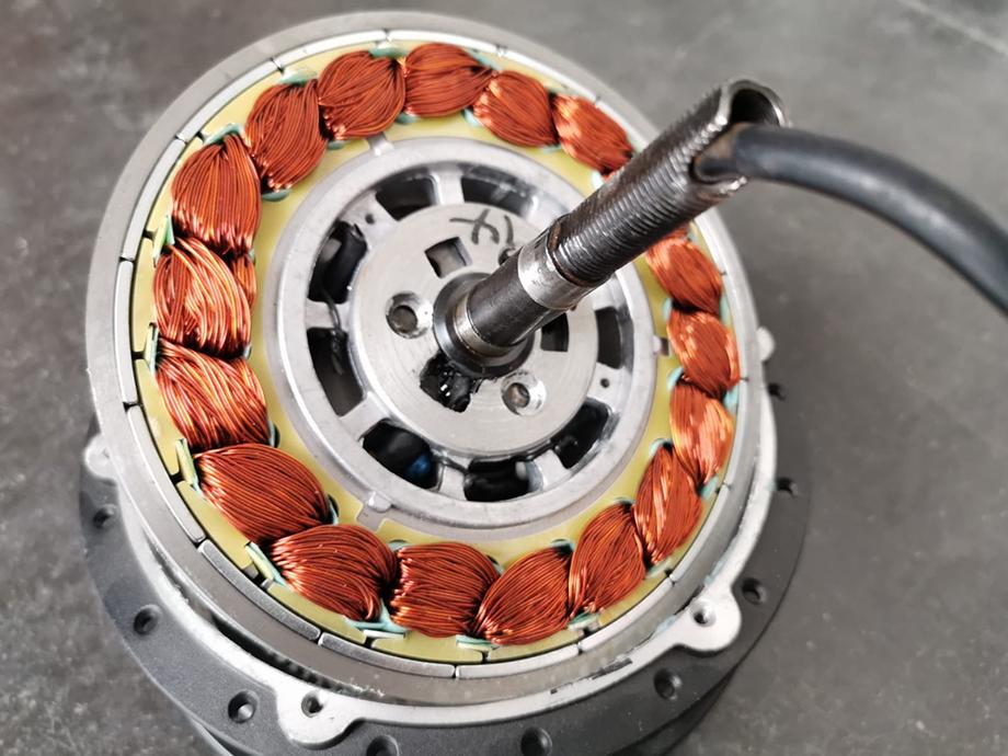 Stator vue côté bobinage
