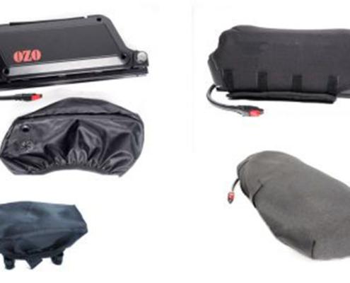 Ensemble des housses de protections pour batterie, guidon et écran pour vélos électriques