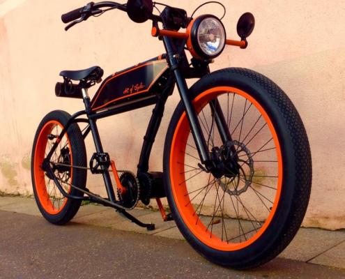 Vélo Cruiser RUFF Porucho électrique, kit moteur pédalier Bafang BBSHD